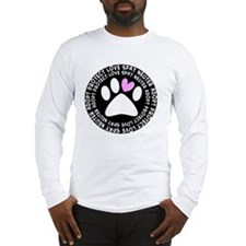 spay neuter adopt BLACK OVAL Long Sleeve T-Shirt