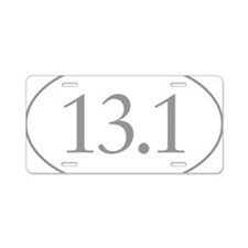 13.1 Miles Aluminum License Plate