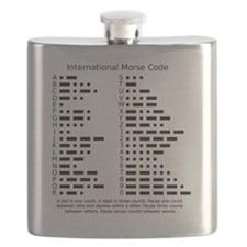 International Morse Code Survival Gear Refer Flask