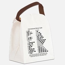 International Morse Code Survival Canvas Lunch Bag