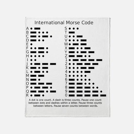 International Morse Code Survival Ge Throw Blanket