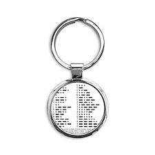 International Morse Code Survival G Round Keychain