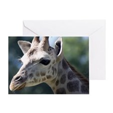 Giraffe King Duvet Greeting Card