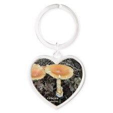 Orange Grisette Heart Keychain
