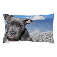 Blue American Pit Bull Terrier Puppy D Pillow Case