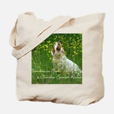 Clumber Spaniel Wall Calendar Tote Bag