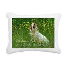 Clumber Spaniel Wall Cal Rectangular Canvas Pillow