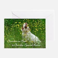 Clumber Spaniel Wall Calendar Greeting Card