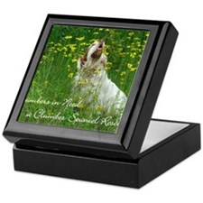Clumber Spaniel Wall Calendar Keepsake Box