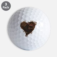 Steampunk Heart Golf Ball