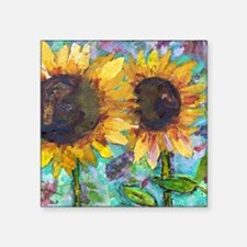 "Sunflower Friends Square Sticker 3"" x 3"""