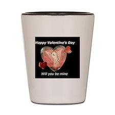 happy valentine day Shot Glass