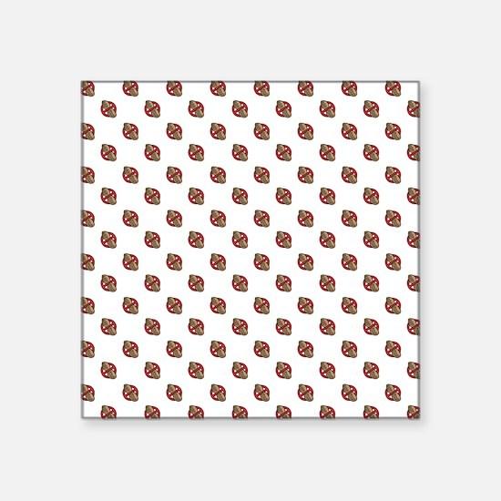 """Polka-Nuts Square Sticker 3"""" x 3"""""""