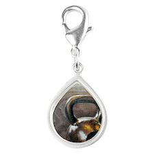 Kettlebell and Box Silver Teardrop Charm