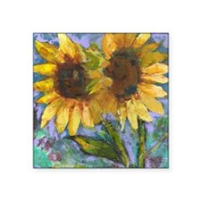 "Sunflower Lovers Square Sticker 3"" x 3"""