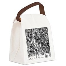St. Michael Fighting the Dragon Canvas Lunch Bag