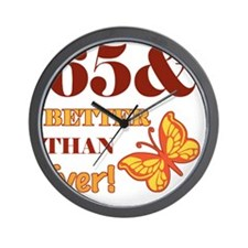 65 And Better Than Ever! Wall Clock