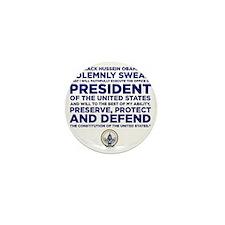 Presidential Oath Mini Button