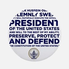 Presidential Oath Round Ornament