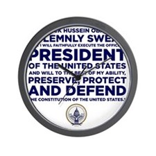 Presidential Oath Wall Clock