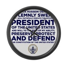 Presidential Oath Large Wall Clock