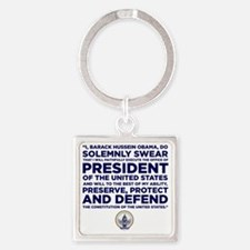 Presidential Oath Square Keychain