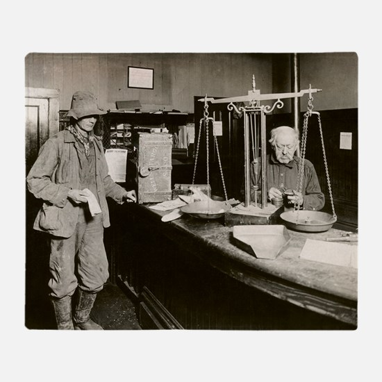 Gold Rush offices of Wells-Fargo Com Throw Blanket