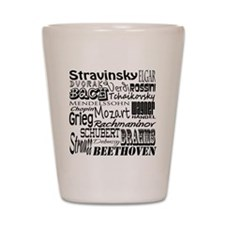 Classical Composers Shot Glass