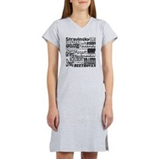 Classical Composers Women's Nightshirt