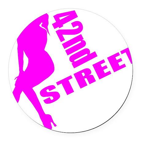 42nd Street Round Car Magnet