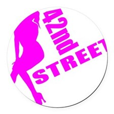 42nd Street Round Car Magnet
