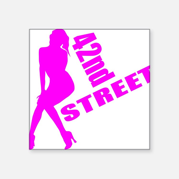 "42nd Street Square Sticker 3"" x 3"""