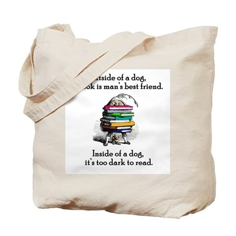 A Book is Man's Best Friend Tote Bag