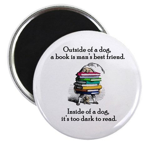 A Book is Man's Best Friend Magnet