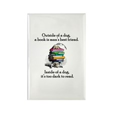 A Book is Man's Best Friend Rectangle Magnet