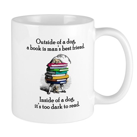 A Book is Man's Best Friend Mug