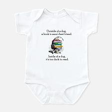 A Book is Man's Best Friend Infant Bodysuit