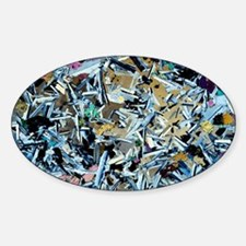 Gabbro rock, light micrograph Decal