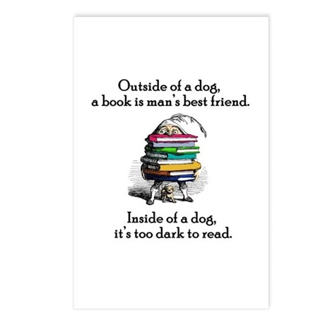 A Book is Man's Best Friend Postcards (Package of