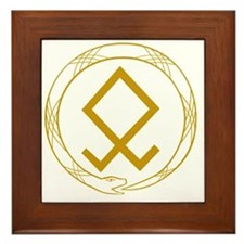Ouroboros(plain) Framed Tile