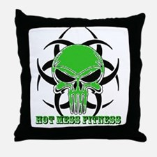 HMF Green Transparent Back Throw Pillow
