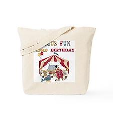 Circus Fun 3rd Birthday Tote Bag