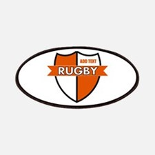 Rugby Shield White Orange Patches