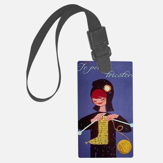 french knitter Large Luggage Tag