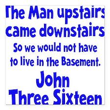 """John 3:16 Square Car Magnet 3"""" x 3"""""""