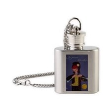 french knitter Flask Necklace