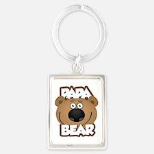 Papa Bear Portrait Keychain