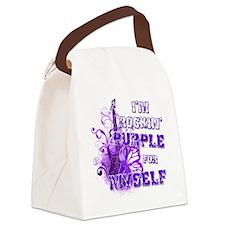 Im Rockin Purple for Myself Canvas Lunch Bag