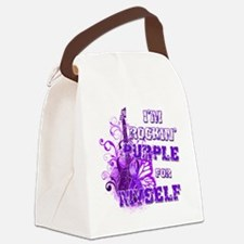 Im Rockin Purple for Myself Canvas Lunch Bag