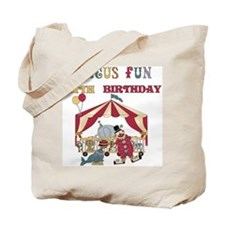 Circus Fun 4th Birthday Tote Bag